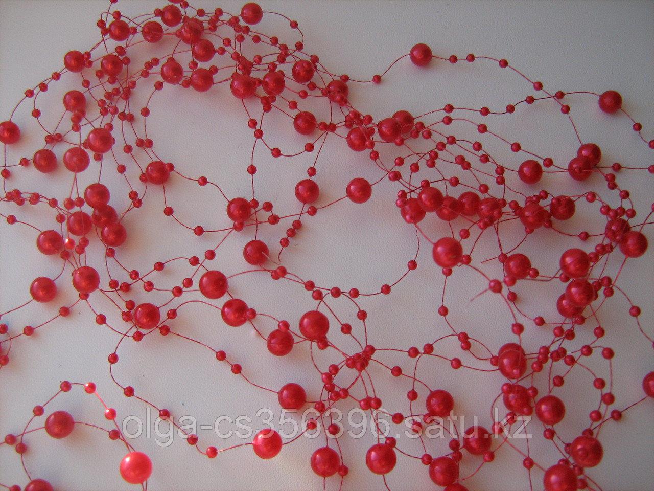 Бусины на леске. Красные. Creativ 665 - 6