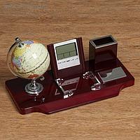 Набор настольный 5в1 (часы, карандашница, глобус, лого, подставка)