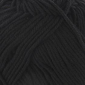 Пряжа 'Элегантная' 100 мериносовая шерсть 250м/100гр (02-Черный) - фото 1