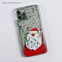 Чехол - шейкер для телефона iPhone 11 pro max «Дед Мороз», 7,8 х 15,8 см