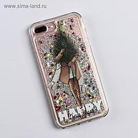 Чехол - шейкер для телефона iPhone 7,8 plus «Елочка», 7,7 х 15,8 см