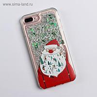 Чехол - шейкер для телефона iPhone 7,8 plus «Дед Мороз», 7,7 х 15,8 см