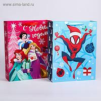 "Пакет ламинат ""С Новым Годом!"", Disney, 31х40х11 см, МИКС 2"
