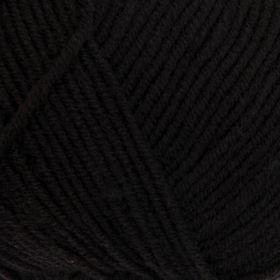 Пряжа 'Перспективная' 50 мериносовая шерсть, 50 акрил объёмный 270м/100гр (02-Черный) - фото 1