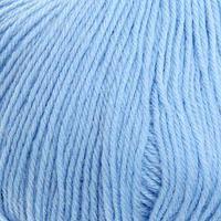 Пряжа 'Детский каприз' 50мериносовая шерсть, 50 фибра 225м/50гр (05-Голубой) (комплект из 5 шт.)