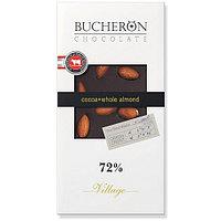 Bucheron горький шоколад с цельным миндалём в картоне  100гр (10шт - упак)