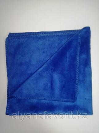 Тряпочка (салфетка) микрофибра 30*30 см. (велюр,стрейч)- плотная, фото 2