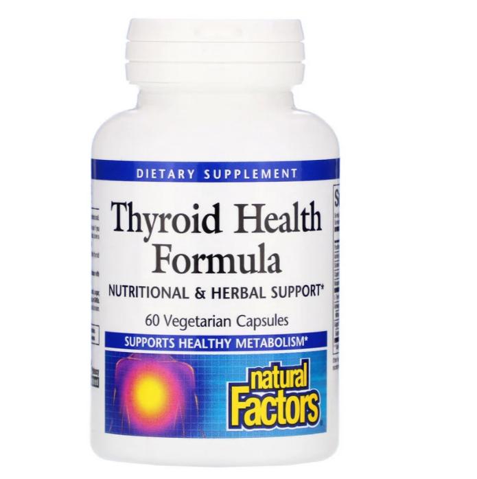 Natural Factors, Thyroid Health Formula, 60 Vegetarian Capsules