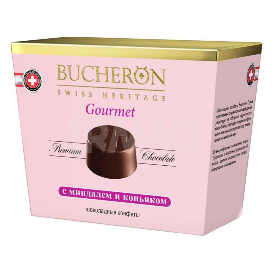Bucheron GOURMET шоколадные конфеты c миндалём  175гр (6шт - упак)