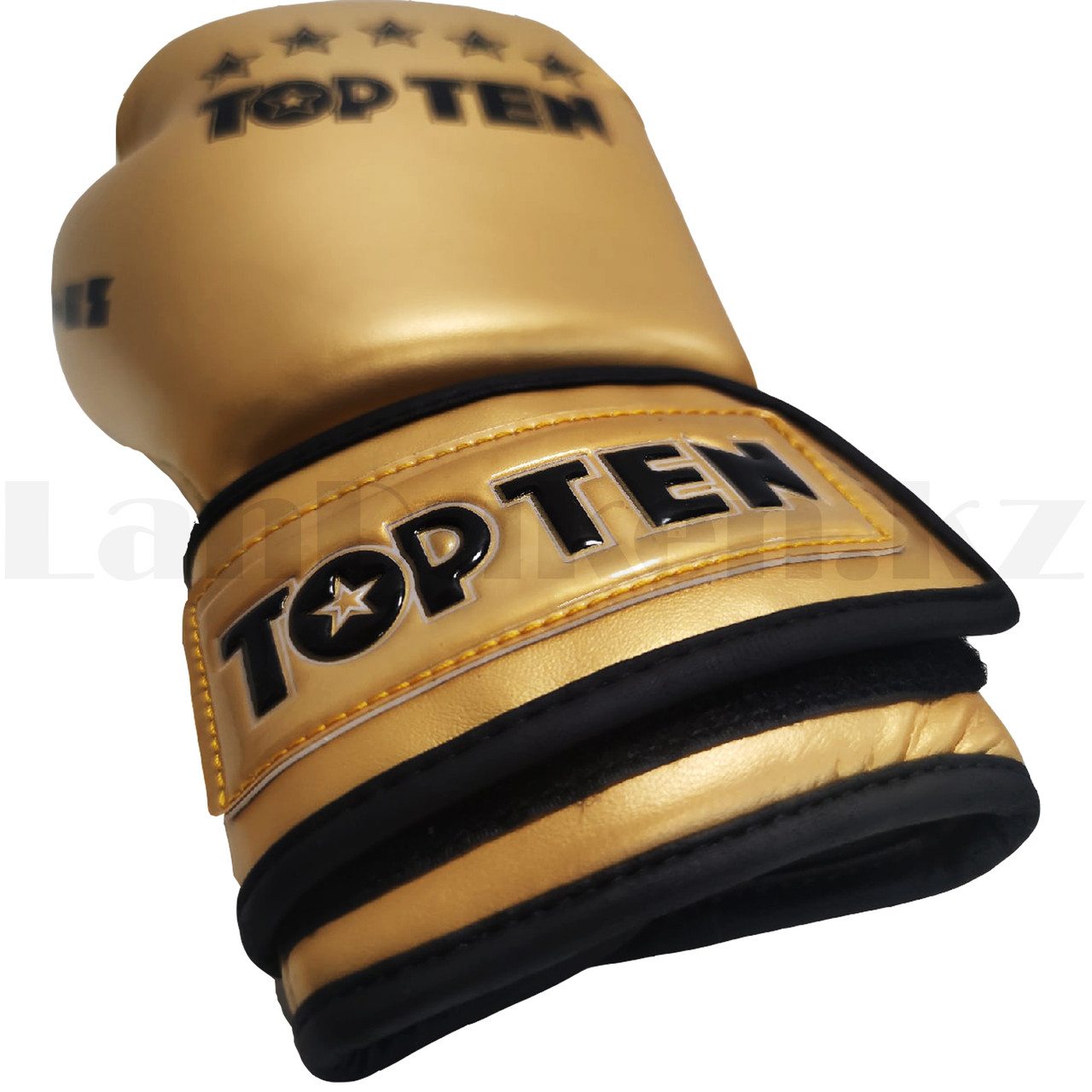 Боксерские перчатки Top Ten 12-OZ золотые - фото 5