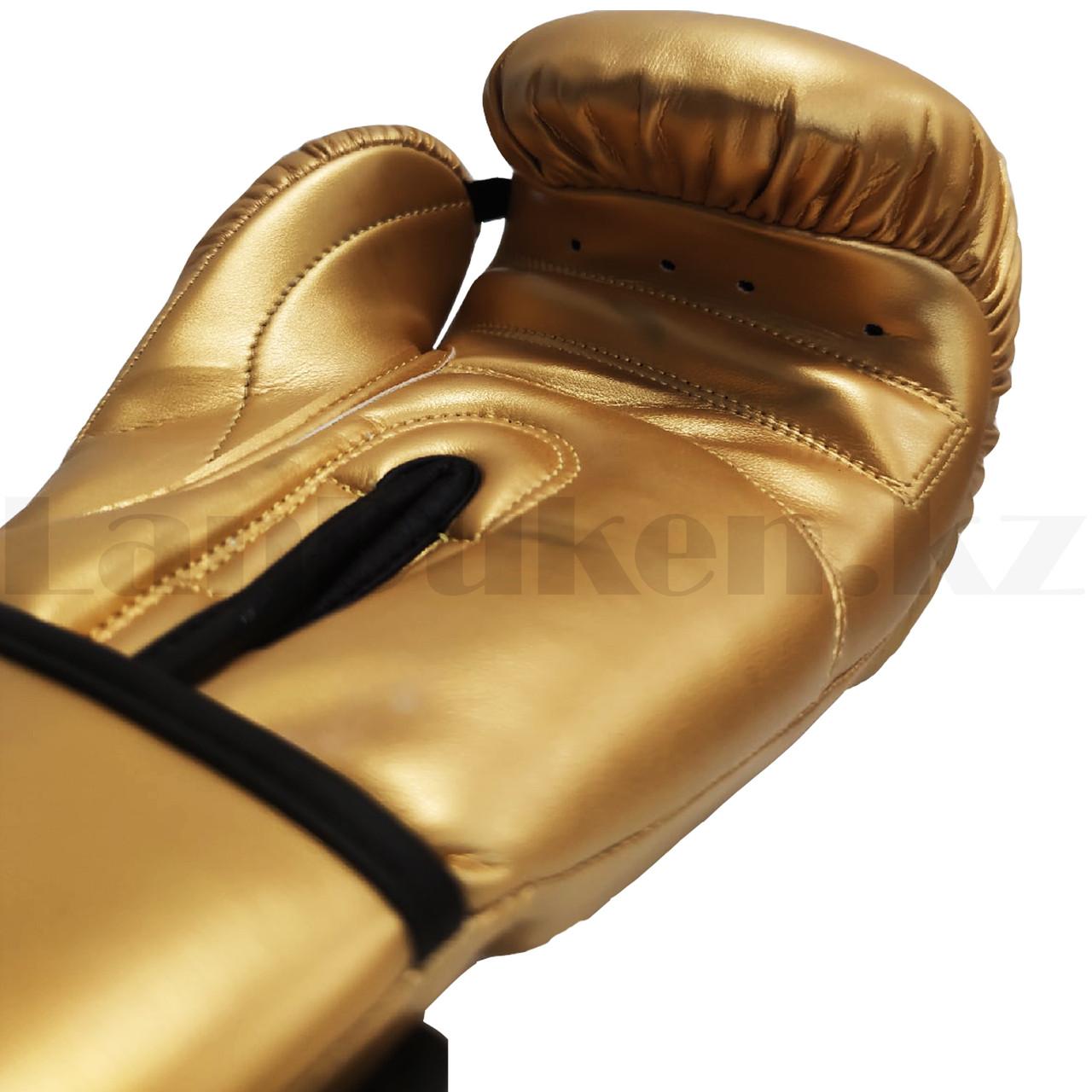 Боксерские перчатки Top Ten 12-OZ золотые - фото 3