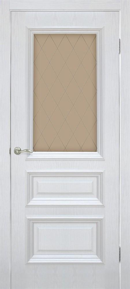 Полотно ОМИС дверное Сан Марко1.2 КР стекло бронза (пленка ПВХ) 800*2000*40 ясень перламутр