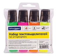 Набор текстовыделителей  OfficeSpace, 4 цвета, 1 - 5 мм