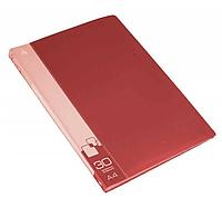 Папка с файлами БЮРОКРАТ на 30 вкладышей, красная