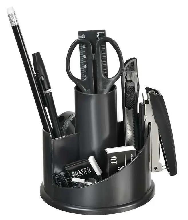 Настольный набор Silwerhof, 11 предметов, вращающийся черный