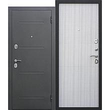 Дверь металлическая 7,5см Гарда Муар Белый ясень (860мм) правая