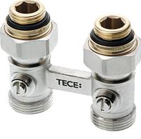 Запорно-Присоединительный узел TECE для нижнего подключения радиаторов