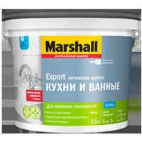 Краска Латексная Матовая MARSHALL EXPORT (КУХНЯ И ВАННАЯ) BW 9л