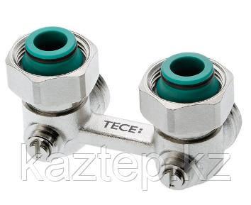 Запорно-присоединительный узел TECE для нижнего подключения радиаторов, угловой