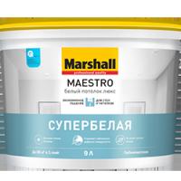Краска интерьерная Marshall MAESTRO (БЕЛЫЙ ПОТОЛОК ЛЮКС) 9л.