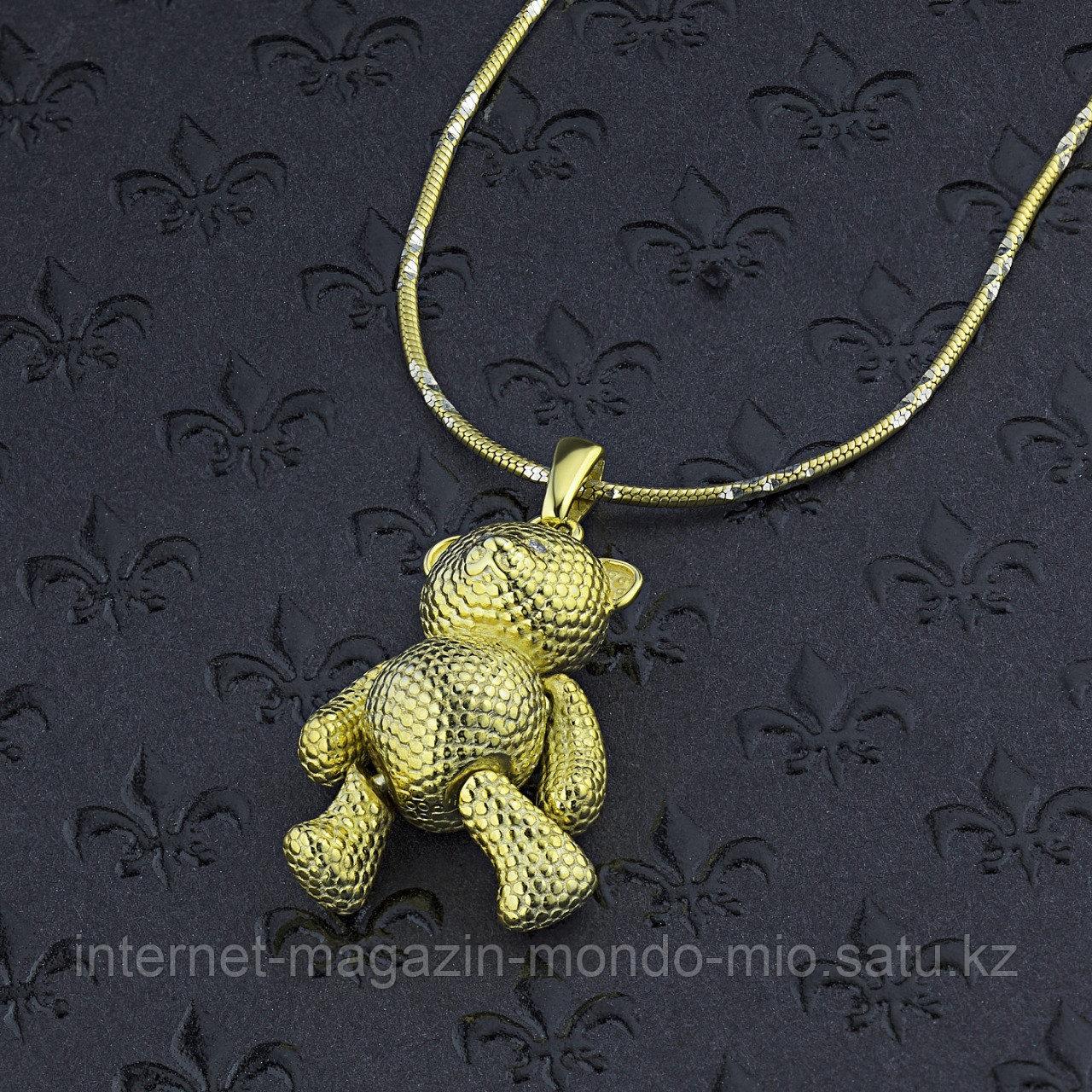 "Подвеска ""Мишка Тедди"" из серебра с бриллиантом - фото 4"