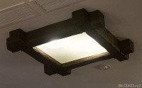 Люстра квадрат (750х750мм) цвет темный дуб из ППУ