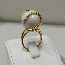 Кольцо с жемчугом / 17 размер