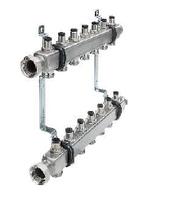 Стальной коллектор ТЕСЕ для систем отопления с запорными вентилями