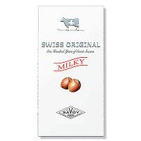 SWISS ORIGINAL молочный шоколад с фундуком в картоне 100гр (10шт - упак)