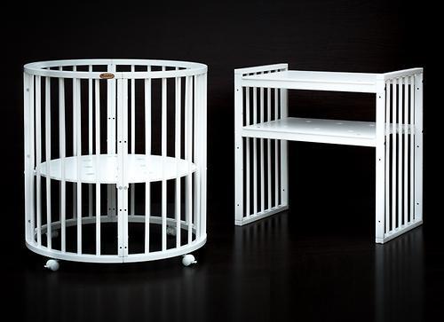 Кроватка детская Bambini овальная М 01.10.14 Белый - фото 2