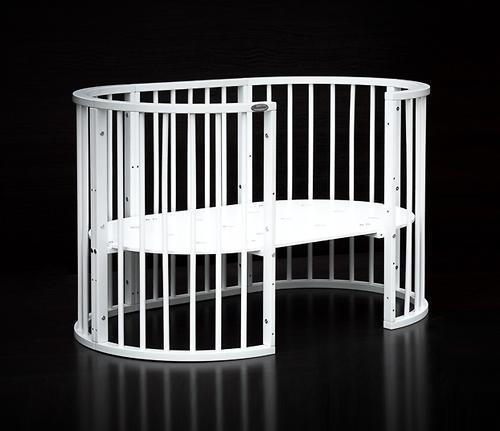Кроватка детская Bambini овальная М 01.10.14 Белый - фото 3