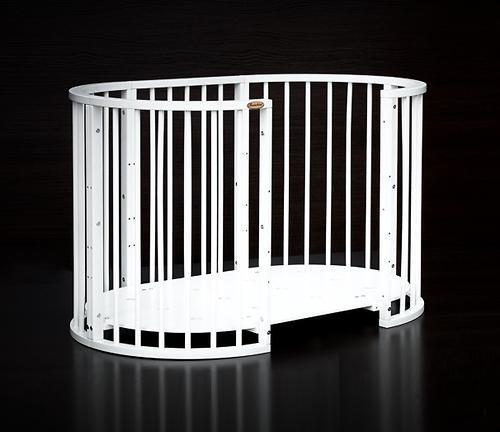 Кроватка детская Bambini овальная М 01.10.14 Белый - фото 4