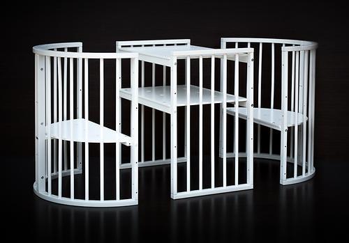 Кроватка детская Bambini овальная М 01.10.14 Белый - фото 5