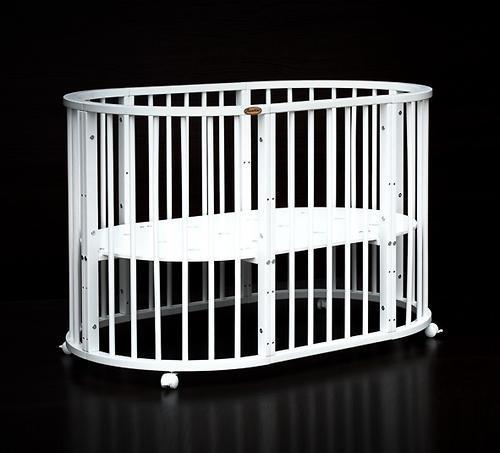 Кроватка детская Bambini овальная М 01.10.14 Белый - фото 6