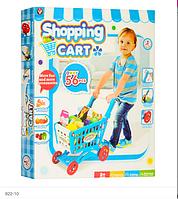 Игровая тележка покупателя детская с продуктами
