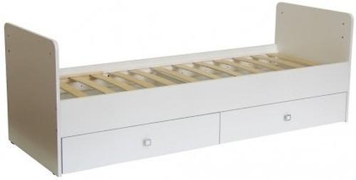 Кровать-трансформер детская Bambini M 01.10.01 Белая фасад ящиков МДФ - фото 2