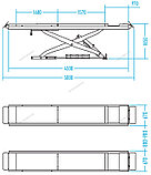 Подъемник ножничный, г/п 4,5 тонны (без траверсы) NORDBERG, фото 2
