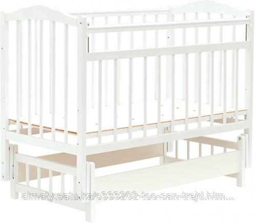 Кровать детская Bambini Классик (Белый)