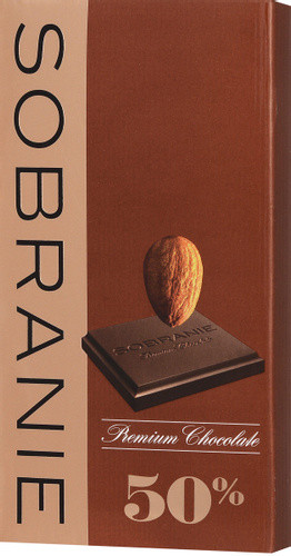 SOBRANIE  темный шоколад с орехами в картоне 90гр (10шт - упак)