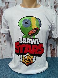 "Футболка Сендвич, цвет белый, Unisex, с принтом ""BRAWL STARS LEON \ ЛЕОН"", формат печати А3, сублимация,"