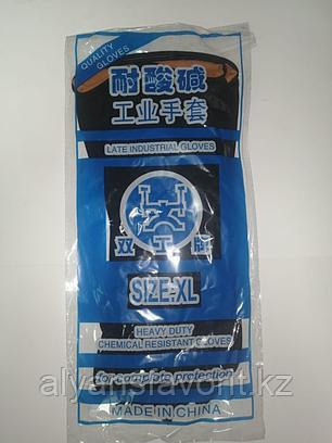 Перчатки резиновые черные. ХL (Удлиненный рукав), фото 2