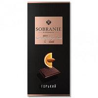 SOBRANIE  горький шоколад с апельсином 90гр (10шт - упак)