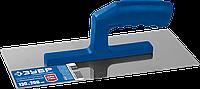 ЗУБР Профи 130х280 мм гладилка штукатурная нержавеющая с пластиковой ручкой. Серия Профессионал.