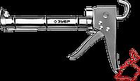 ЗУБР полукорпусной пистолет для герметика Профессионал, хромированный, 310 мл., фото 1