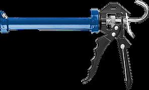 ЗУБР скелетный пистолет для герметика Профессионал, усиленный, поворотный, 310 мл.