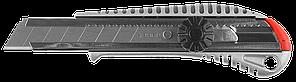 Металлический нож с винтовым фиксатором ПРО-18В, сегмент. лезвия 18 мм, ЗУБР Профессионал