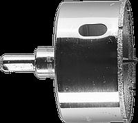 Коронка алмазная по кафелю и стеклу, d=60 мм, зерно Р 60, в сборе с центрирующим сверлом и имбусовым ключом,