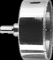 Коронка алмазная по кафелю и стеклу, d=83 мм, зерно Р 60, в сборе с центрирующим сверлом и имбусовым ключом,