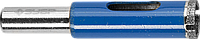 Сверло алмазное трубчатое по стеклу и кафелю, d=10 мм, зерно Р 100, ЗУБР Профессионал 29860-10