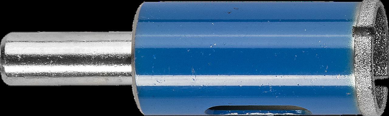 Сверло алмазное трубчатое по стеклу и кафелю, d=16 мм, зерно Р 100, ЗУБР Профессионал 29860-16